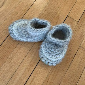 Other - Hand made wool toddler slippers sz 6